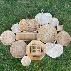 DIY Statement Basket Wall Set 13 Trivets Wicker